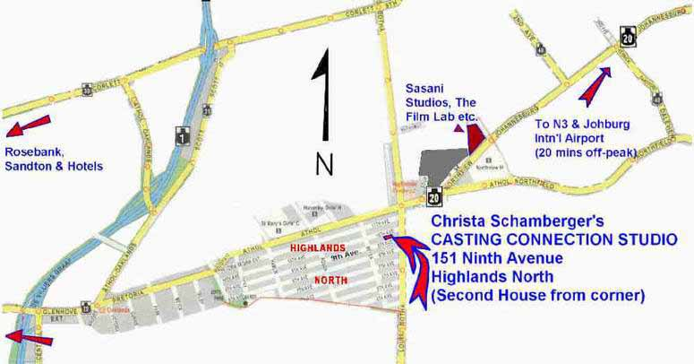 Christa Schamberger Casting Director  Map to Studio